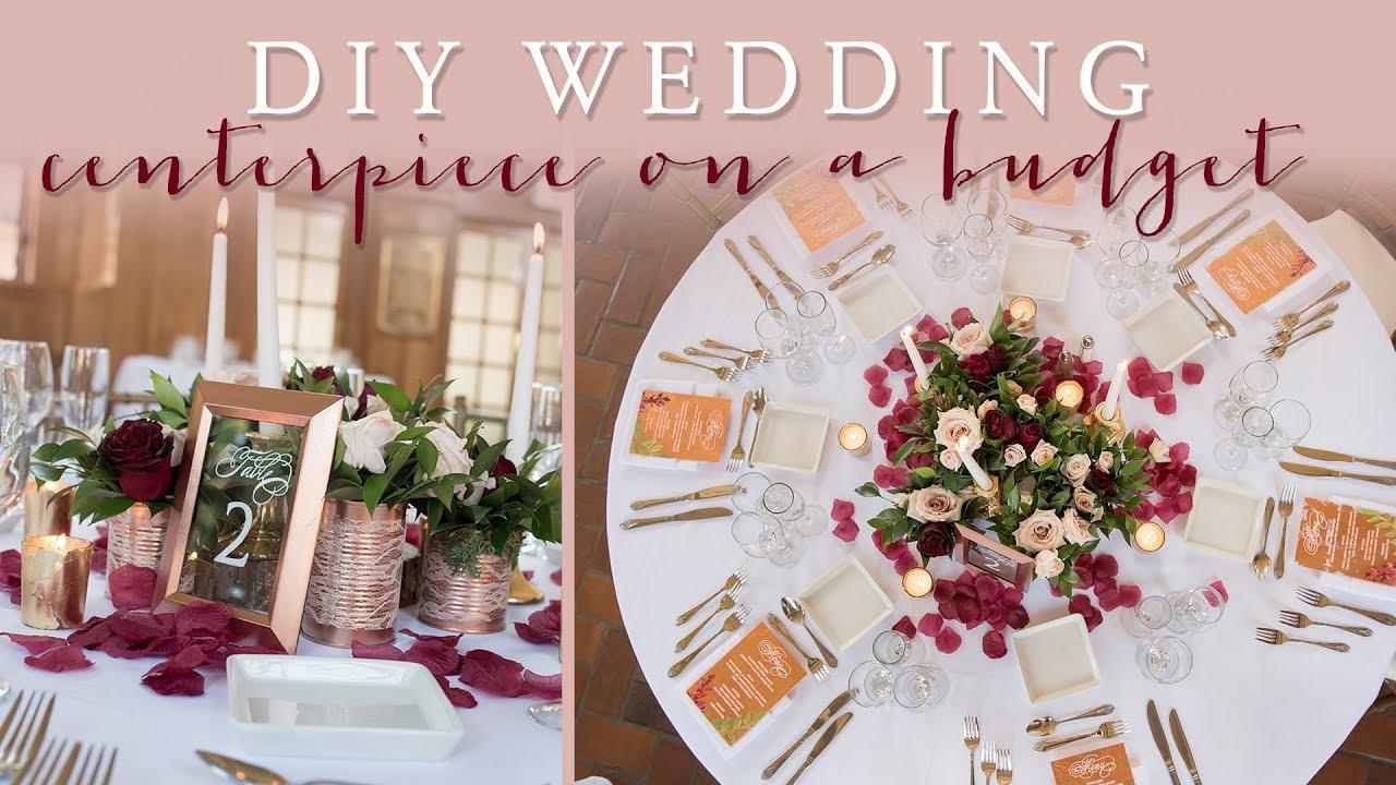 DIY Wedding Centerpiece on a Budget