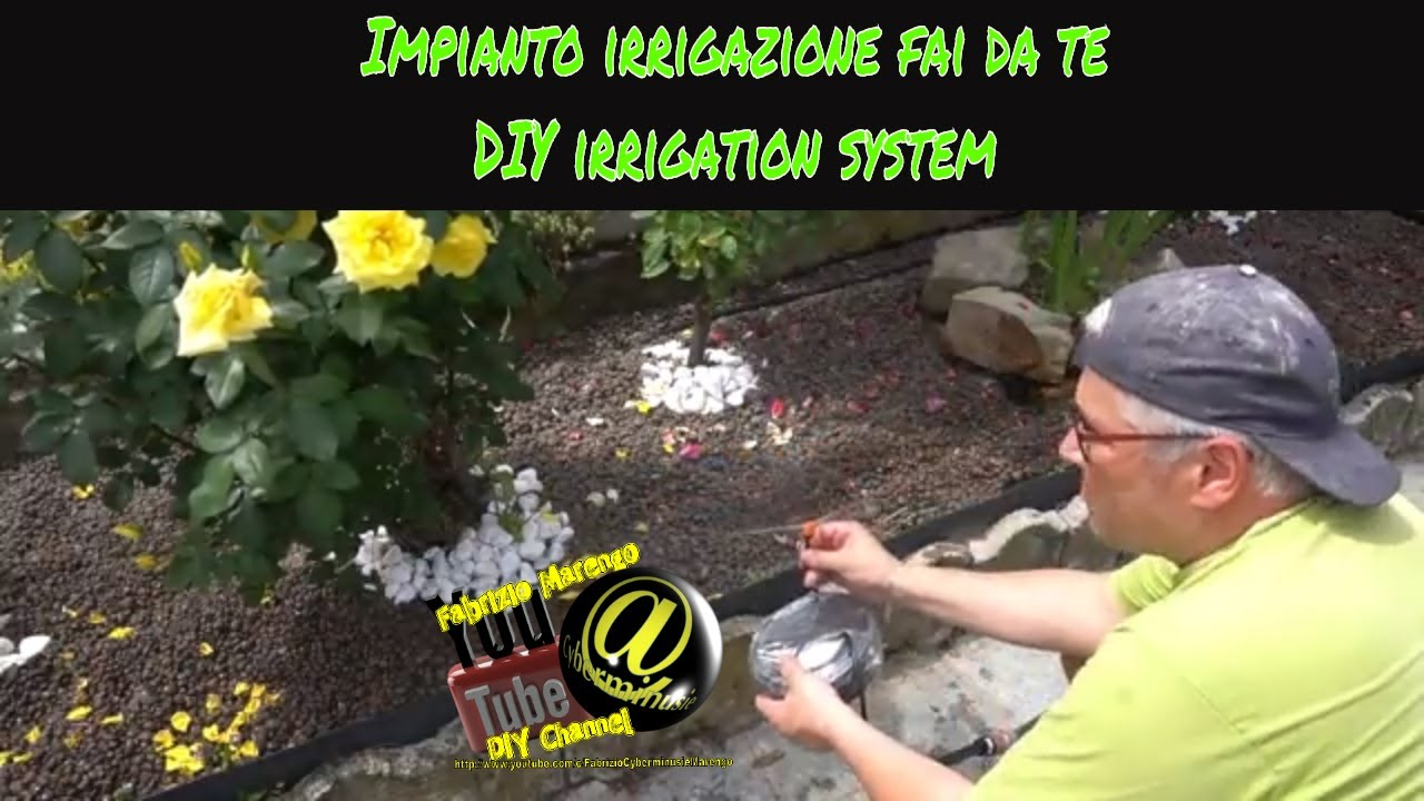 Tutorial Come Installare Impianto Irrigazione Fai Da Te How To Install Diy Drip Irrigation System