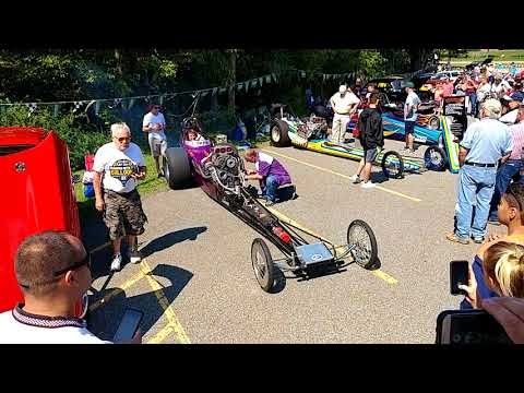 RACE CARS   RAILS REV THEIR ENGINES FOR CROWD AT WARREN TWP CAR SHOW