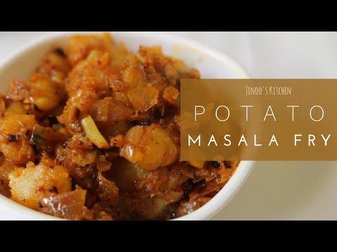 Urulai Kizhangu Masala For Rice | Madurai Kizhangu Pottalam Recipe | Potato Masala Fry For Rice