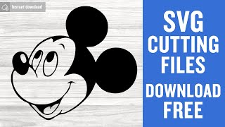 Mickey Head Svg Free Cutting Files for Scan n Cut Free Download