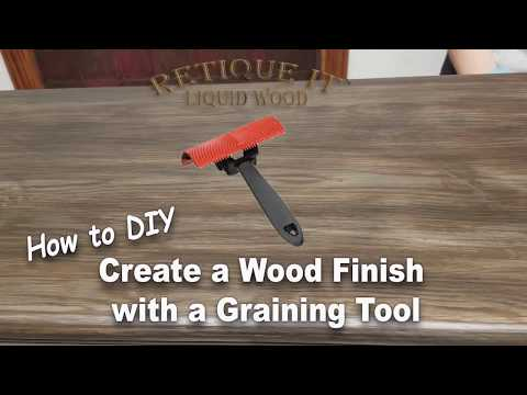 DIY How to Restore Old Furniture and bring the Wood Grain Back - Retique It with a Graining Tool