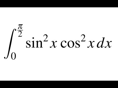Definite integral of sin^2 x  cos^2 x