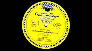 Schubert klaviertrio in Es dur D.929 op 100 Trio de trieste