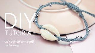 Sieraden maken met Kralenwinkel Online - Gevlochten armband met schelp