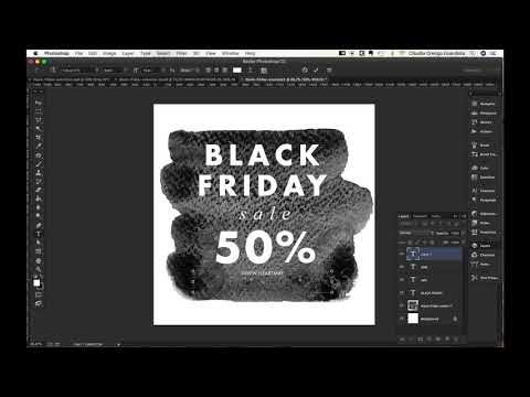 DIY Tutorial: Design your Black Friday Sale Graphics + free Black Friday watercolor clipart