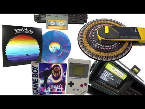 Audities 5: Playing with the media - Zoetrope, C64, DAT, Holo-vinyl, Game Boy