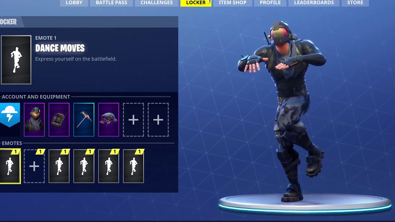 FORTNITE DANCE MOVES (DEFAULT DANCE) 10 HOURS - YouTube