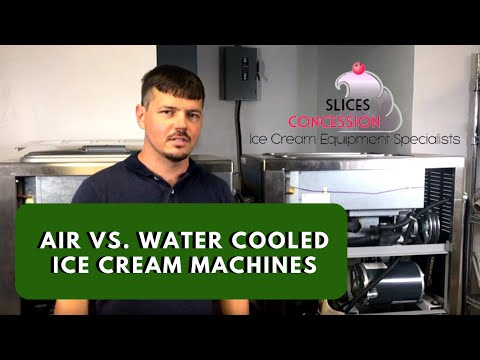 Water Cooled And Air Cooled Soft Serve Machine Comparison