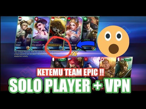 SOLO PLAYER + VPN YA BEGINI DAH HASILNYA !! - MOBILE LEGEND INDONESIA