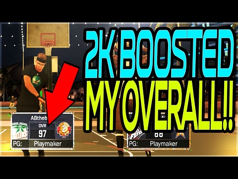 2K BOOSTED MY OVERALL!! 97 OVR SS2? NBA 2K17 MYPARK