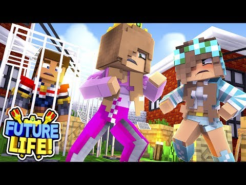 Minecraft FUTURE LIFE - LITTLE KELLY SAVES HER HUSBAND DONNY FROM ASHLEY'S BASEMENT!!