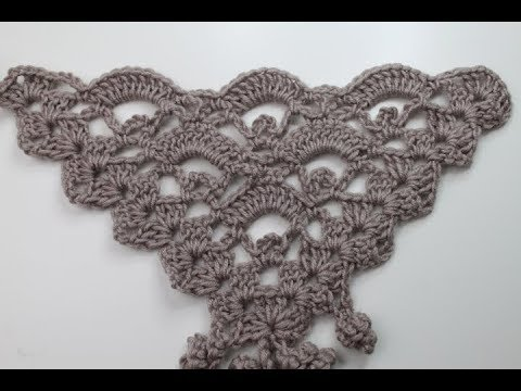 68. Tuch häkeln / Muster / Cloth Scarf - YouTube