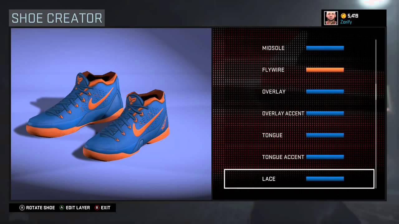 the latest ae4cd d2374 NBA 2K16 Shoe Creator - Nike Kobe 9 EM