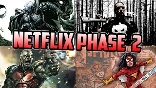 Marvel Netflix Phase 2 Punisher, Moon Knight, Spider-Woman & Deathlok