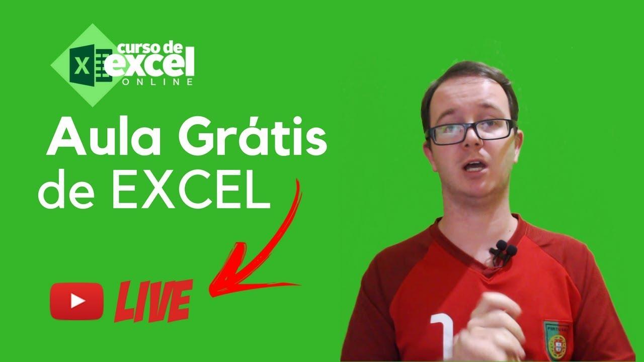 Aula De Excel Gratis Curso De Excel Online Youtube