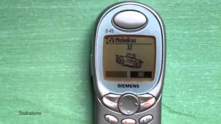 siemens S45 retro review (old ringtones & games) vintage cell phone