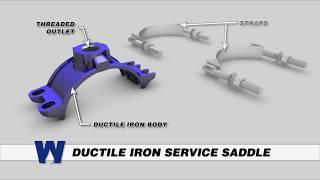 Ductile Iron Service Saddle - WaterworksTraining.com