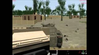 LVC-Game VBS2 inf & SBPro AIFV CV9040c combined in Geospecifc Terrain by TerraTools