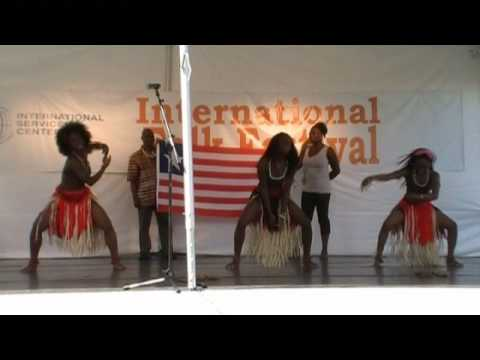 Traditional Liberian dance in Cleveland