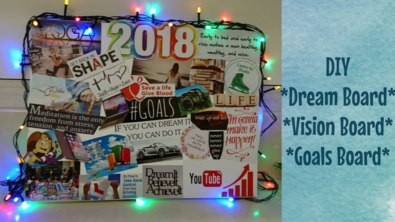 Diy Dream Board 2018 Vision Board Room Decor Youtube