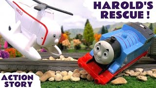 thomas and friends accident harold s rescue with minions and avengers thor toy train story