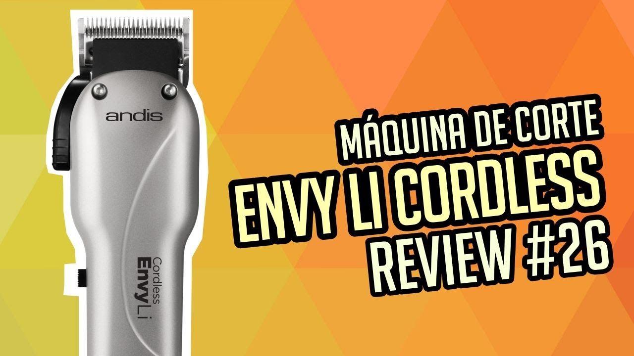 fb5b8c343 Review maquina de cortar cabelo Andis Envy li - YouTube