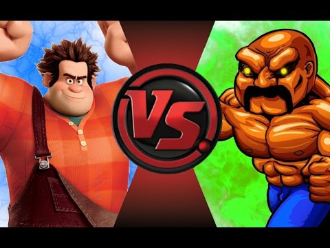 WRECK-IT RALPH vs ABOBO! Cartoon Fight...