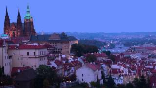 Dusk over Prague. Time Lapse