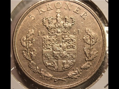 5, 10 and 20 Kroner coins of DENMARK in HD