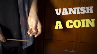 How To Vanish a Coin With a Chopstick  - Easy Magic Trick with COIN