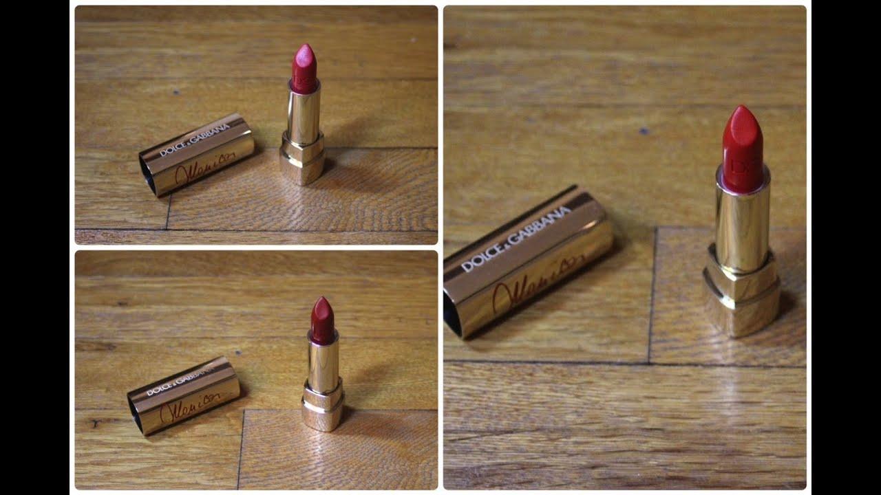 7c0664a7 Dolce & Gabbana True Monica Lipsticks Review - YouTube