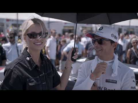 On A Very Special Dtm Tour With Lena Gercke Bmw M Motorsport