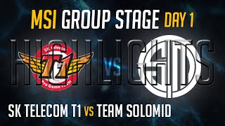 SKT vs TSM HIGHLIGHTS - MSI 2015 LoL Mid Season Invitational 2015 - SK Telecom T1 vs Team Solomid
