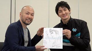 漫画「スラムダンク」の作者・井上雄彦さん(50)とバスケット選手の対...
