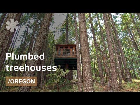 "Fully plumbed DIY treehouses & tree-cabin in OR ""treesort"""