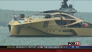 New yacht launched in Sturgeon Bay vessel video