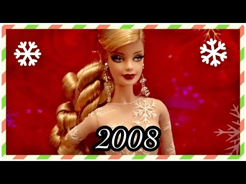 2008 / 28 Years of Holiday Barbie Dolls / Christmas Collection Advent / 2008 Holiday Barbie Doll