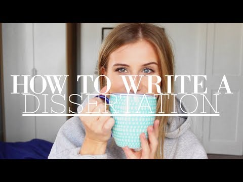 UNI SERIES: HOW TO WRITE A DISSERTATION // PHOEBE SLEE