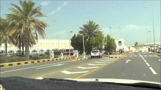 arriving by taxi at Muscat International Airport , Oman