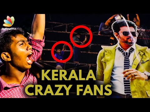 Kerala Fans go Crazy : Milk Abhishekam For Vijay Cutout | Public Review and Reactions