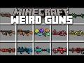 Minecraft WEIRD TECH GUNS MOD / PLAY WITH EXTREME RAY GUNS AND VAPORISE CITIES!! Minecraft