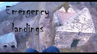Emergency landings - Paragliding Fails/Wins And Crashes