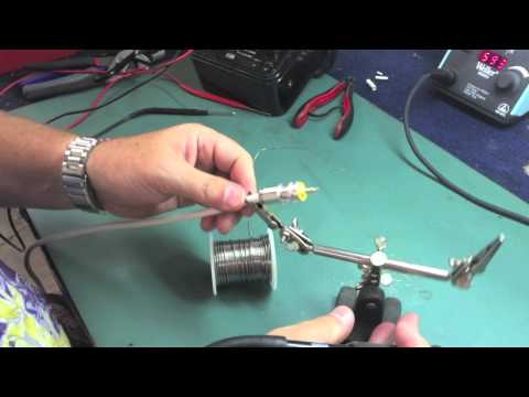 Soldering A PL-259 Connector For A VHF Antenna