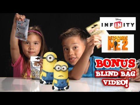 BONUS Blind Bag Opening!  Disney Infinity Power Discs & Despicable Me 2 Figures