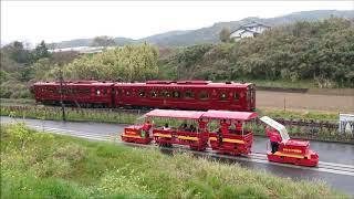 ことこと列車 と 赤村トロッコ油須原線 平成筑豊鉄道