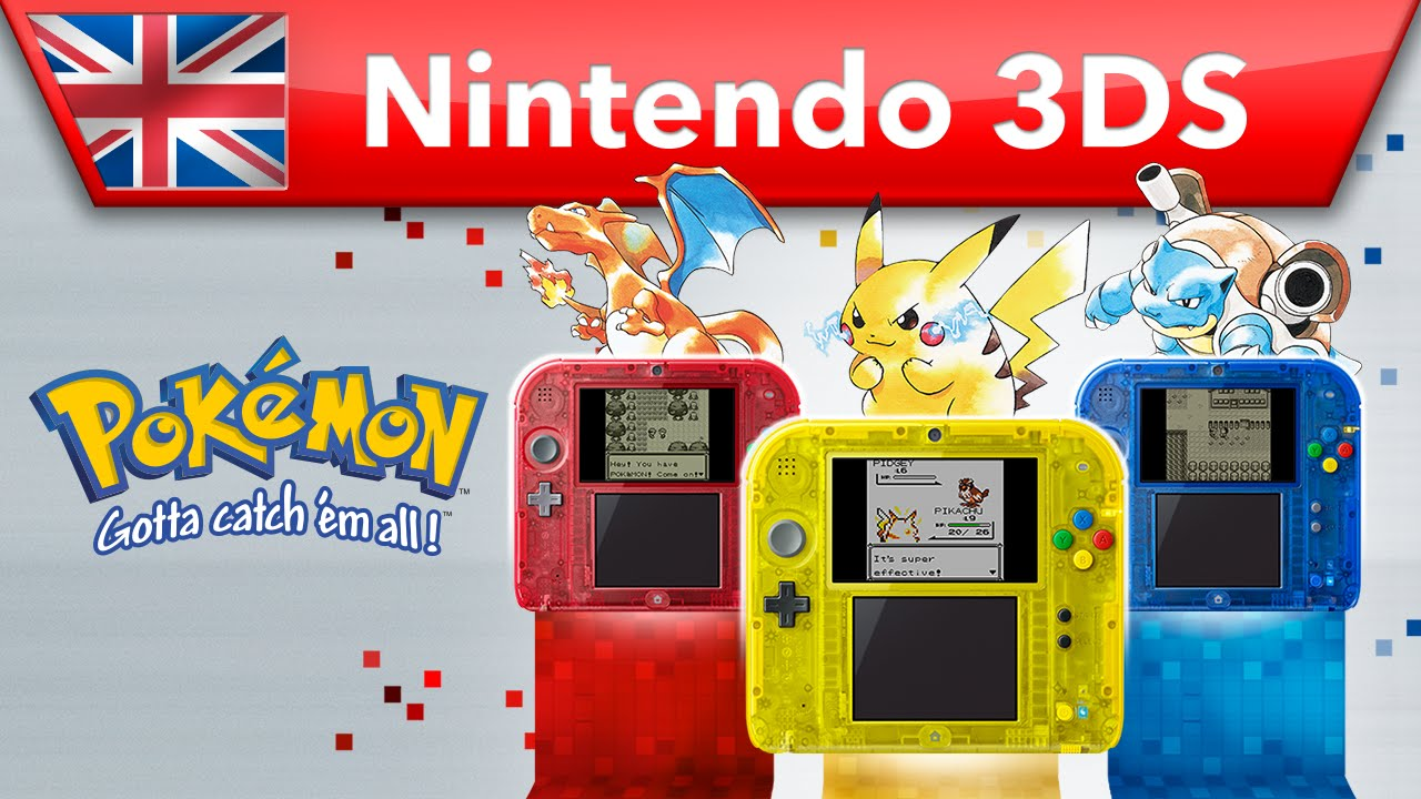 Pokémon Red Version, Blue Version & Yellow Version - Trailer (Nintendo 3DS)
