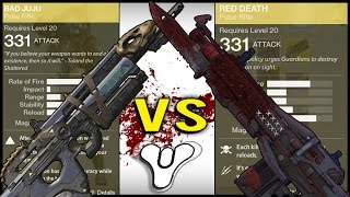 Destiny: Bad Juju Vs Red Death Pulse Rifles Comparison Review! (Which One is Better?)
