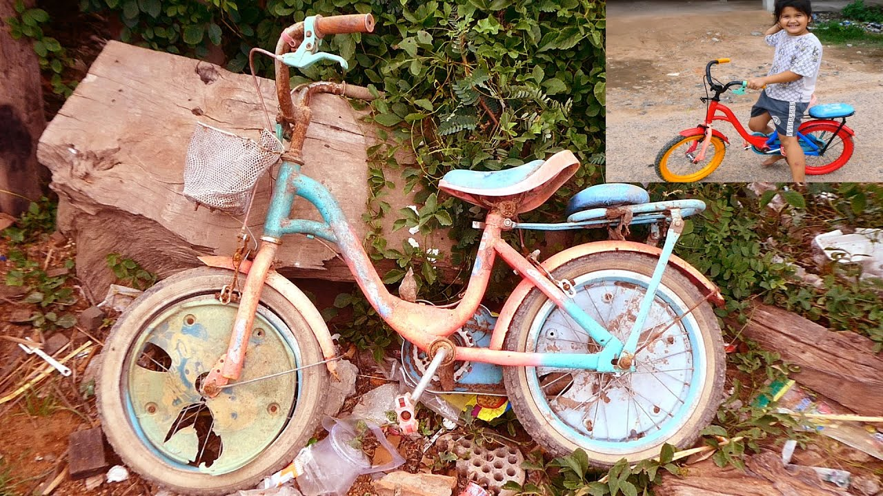 Full Restoration Old and Rusted Bicycle | Restore Children's Bikes
