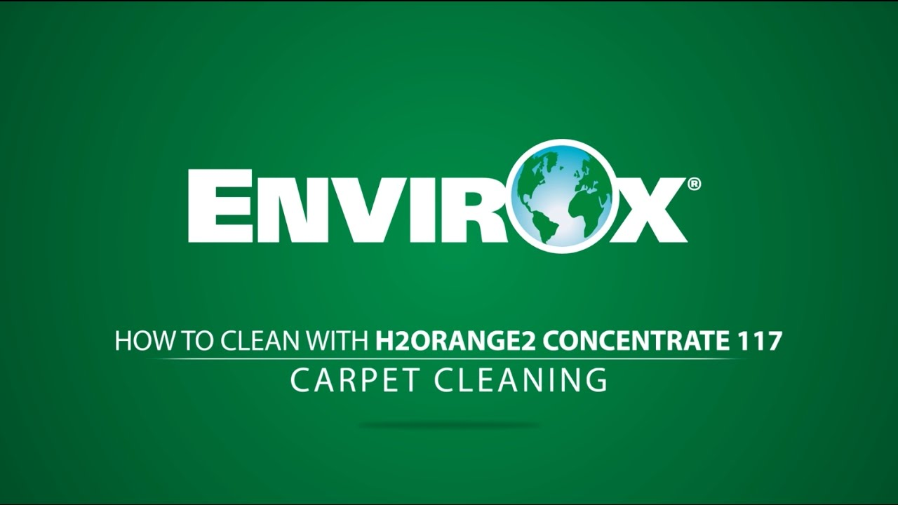 Envirox H2orange2 Concentrate 117 Carpet Cleaning Youtube